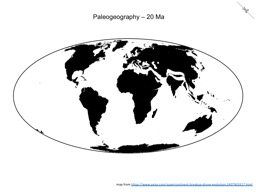 Thumbnail of Paleogeography - 20 Ma
