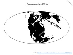 Thumbnail of Paleogeography - 200 Ma